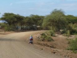 A woman commuting.