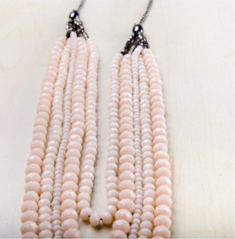 Helena Blush necklace sold by To the Market