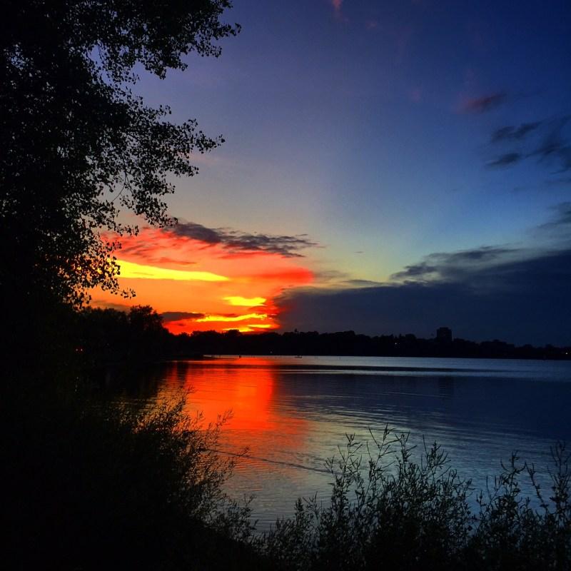 Sunset Lake Calhoun, Minneapolis MN