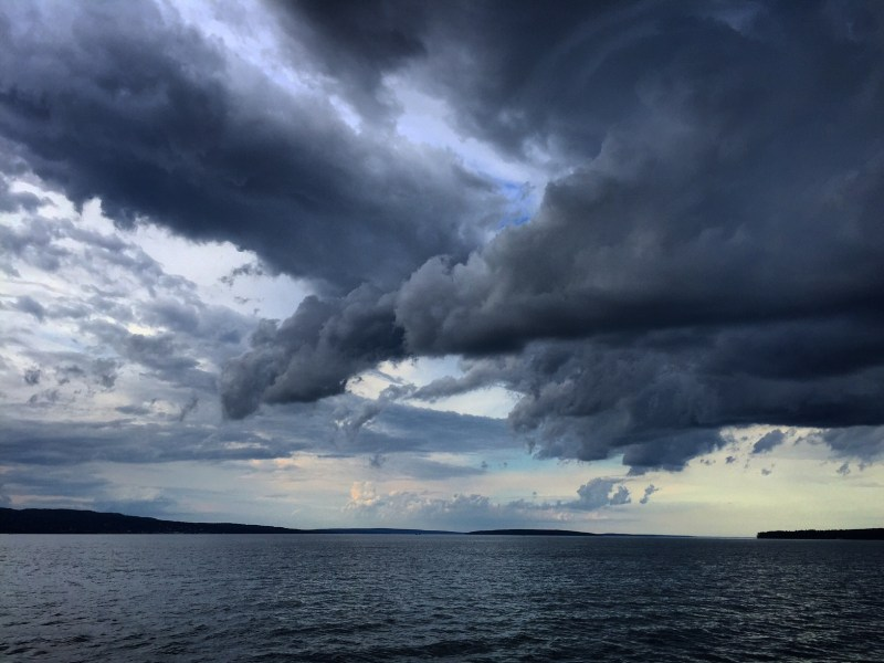 Storm clouds over Lake Superior