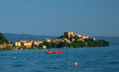 Lake Bolsena, where guests go out with fishermen at dawn, Umbria