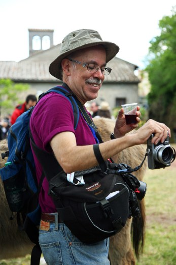 Guest Ken Hoffman at the festival in Marta, Umbria Photo Workshop