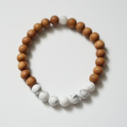 The Transendence Mala bracelet is made by women living in rural villages in India who have no other employable skills or economic opportunities.
