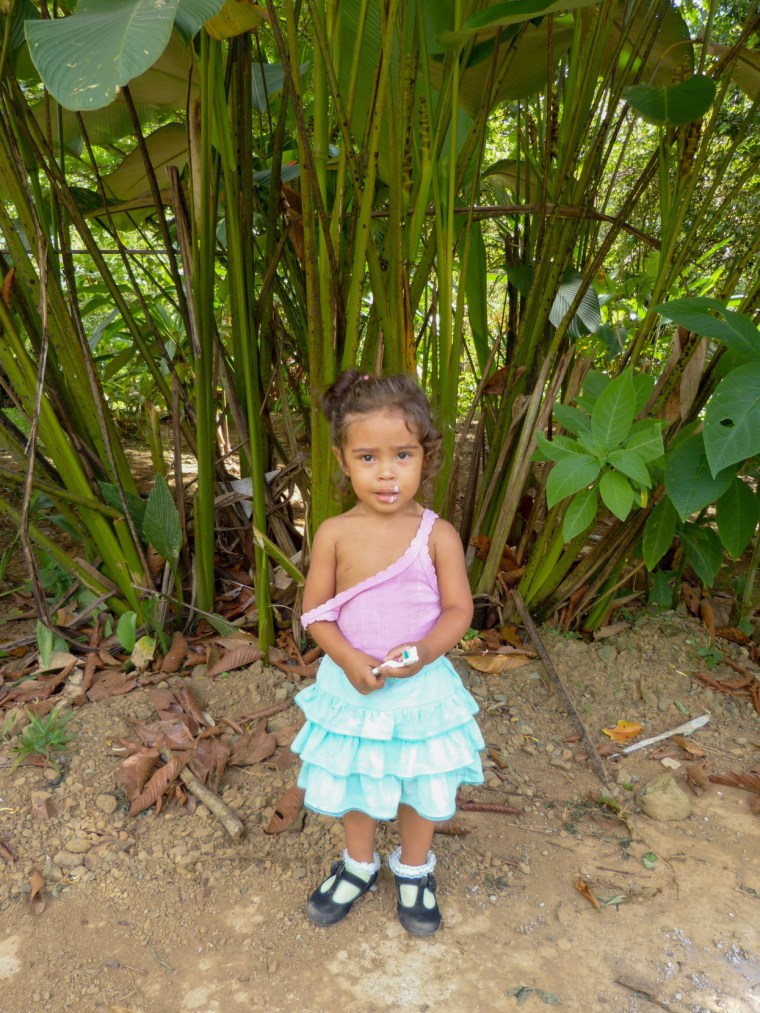 Juan and Rosa's youngest child poses innocently for us. She is adorable!