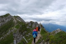 Hike along the edge of the Alps