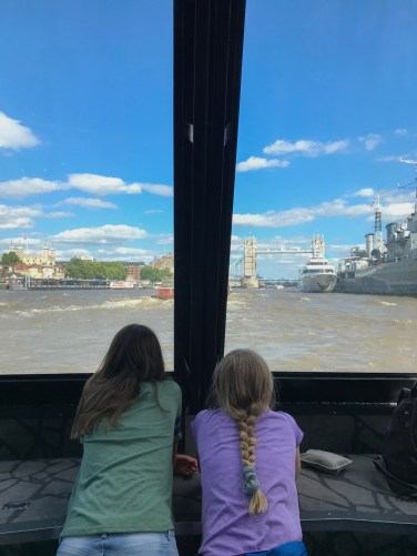 A boat tour down the Thames