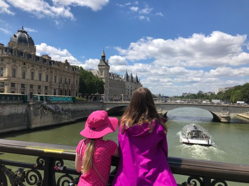 Looking out at the Seine