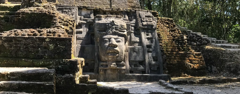 Mask Temple Lamanai Belize