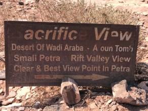 Petra Sacrifice View, Petra Jordan