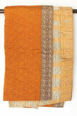 Abundance Silk Blend Kantha Throw. $138