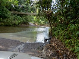 A river crossing. Thank goodness we had a large SUV