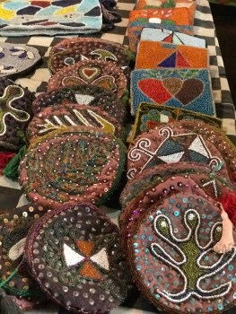 Hand-beaded wallets
