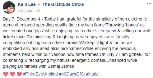Gratitude 2 Day 07 2017-12-05