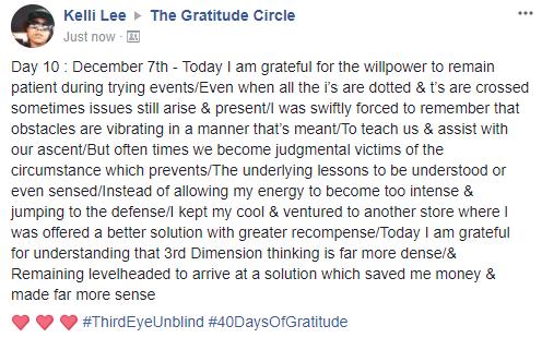 Gratitude 2 Day 10 2017-12-7