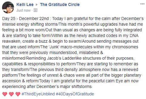 Gratitude 2 Day 25 2017-12-22