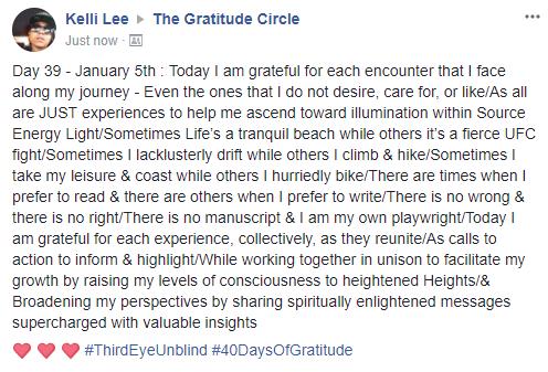 Gratitude 2 Day 39 2018-01-05