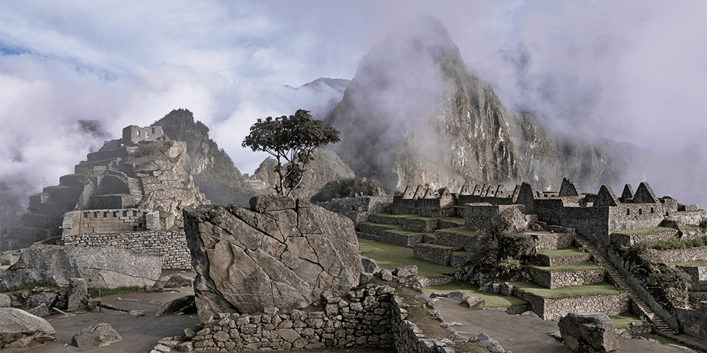 machu picchu in peru where shamans smudged using palo santo