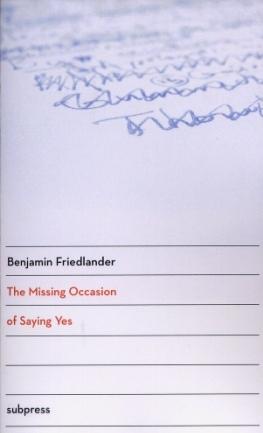 friedlander-missing