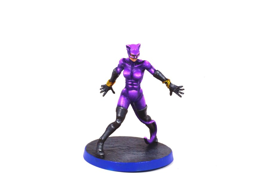 Retro Catwoman Painted