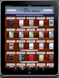 Browsable Newsstand of Library's Journals   BrowZine iPad App Screenshot