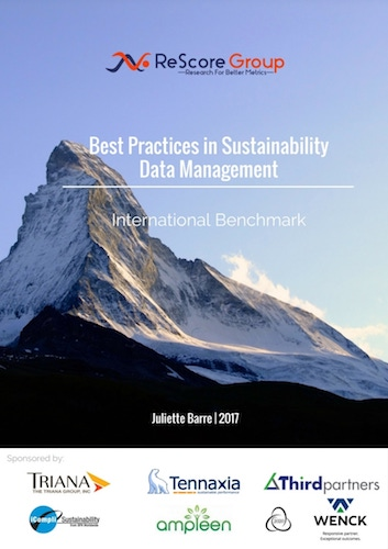 ReScore Group's Best Practices in Sustainability Data Management International Benchmark Report 2017