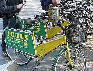 Bike design- OyBike share. London, UK 2008. Photo by Jack Becker, Third Wave Cycling Group.