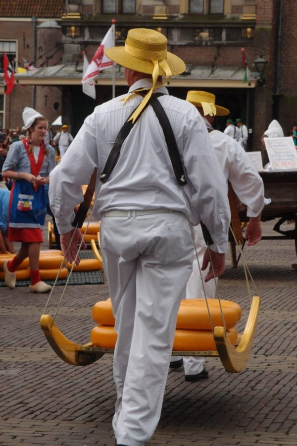 cheese carrier in Alkmaar
