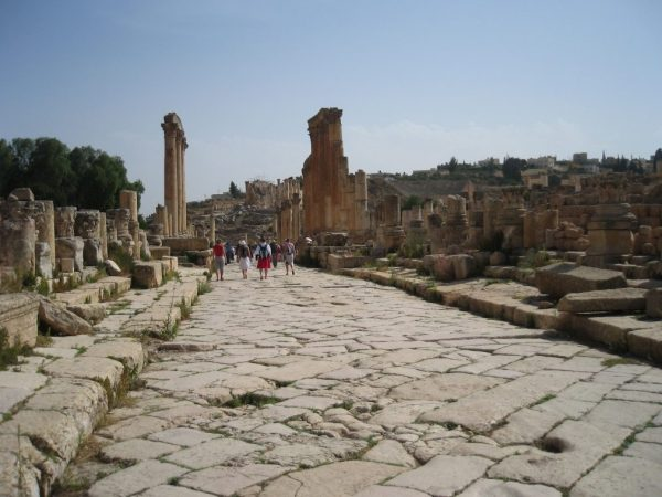 Jerash ancient road