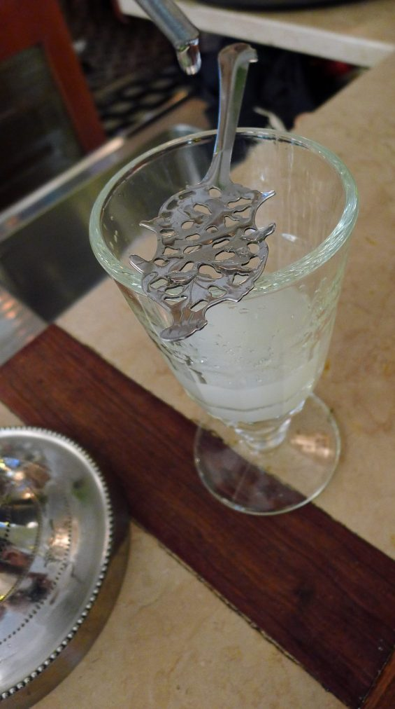 absinthe with water added