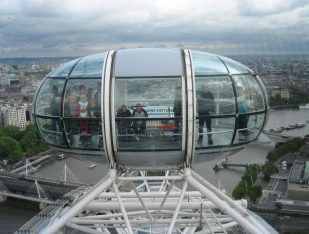 View of a London Eye capsule