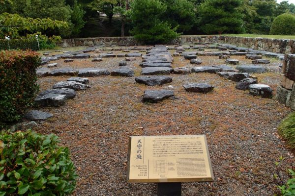 garden of the main keep, himeji castle