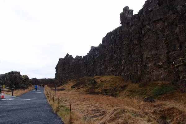Thingvellir rock wall, Iceland