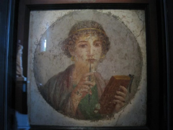 fresco of so-called Sappho, 55-79 AD