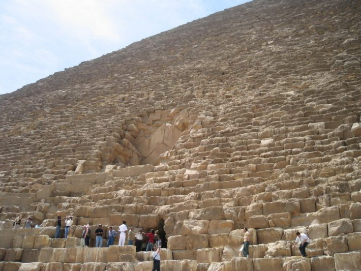 entrance passage to Great Pyramid