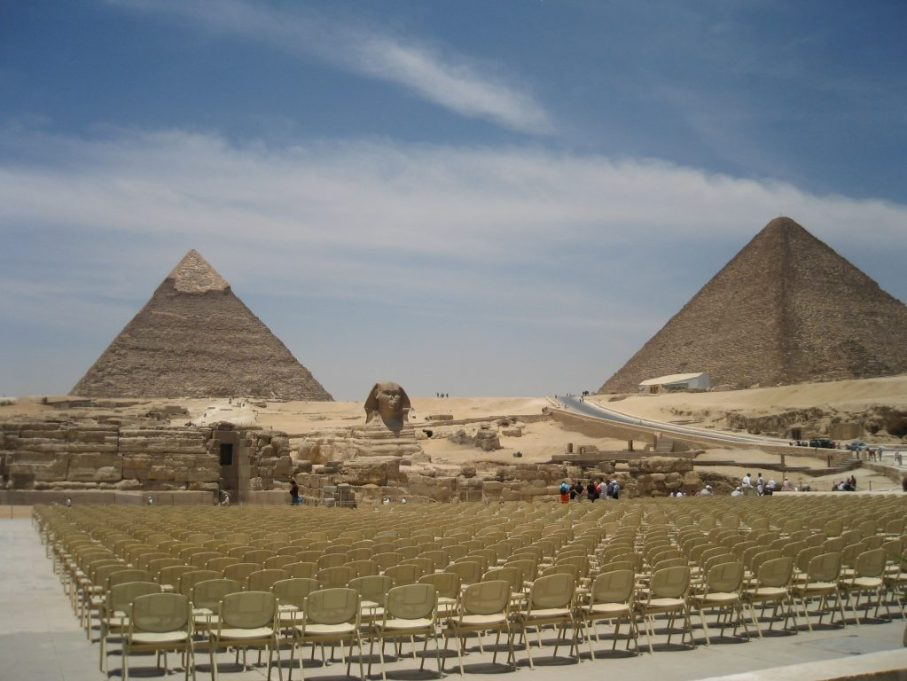 Seating for Sound and Light show Giza