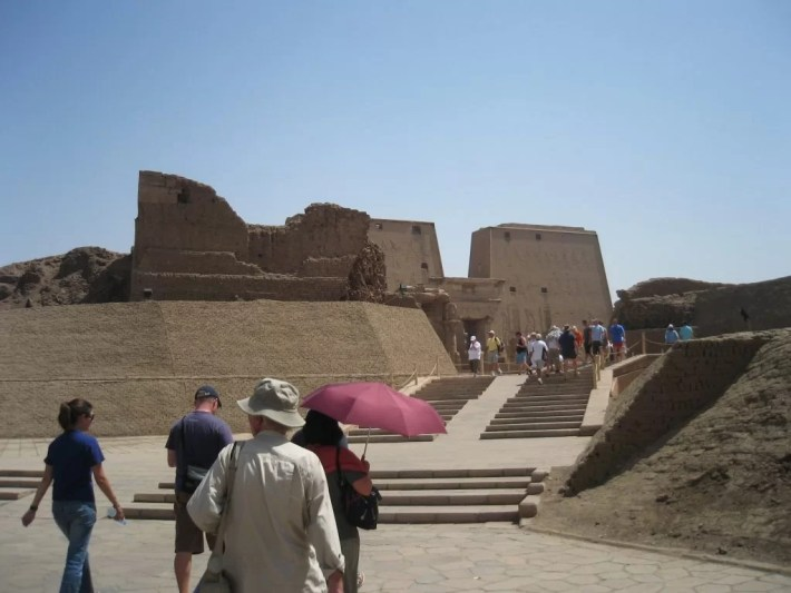 Approaching the Temple of Edfu
