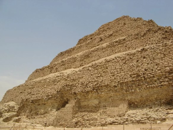 Step Pyramid of Djoser Saqqara Egypt close up