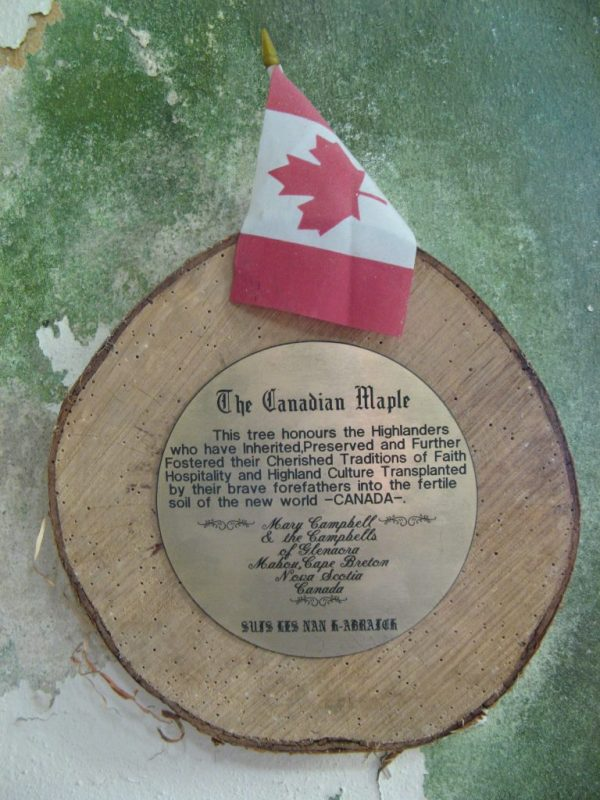 Plaque to Highland Emigrants to Canada