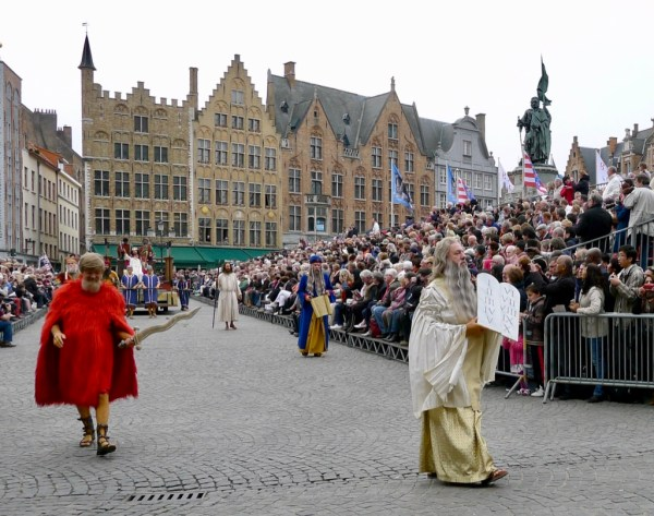 Moses, procession of the holy blood, Bruges, Belgium