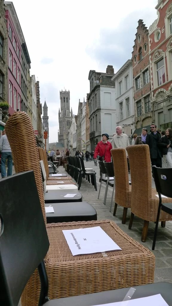 seats for the Procession of the Holy Blood, Bruges, Belgium