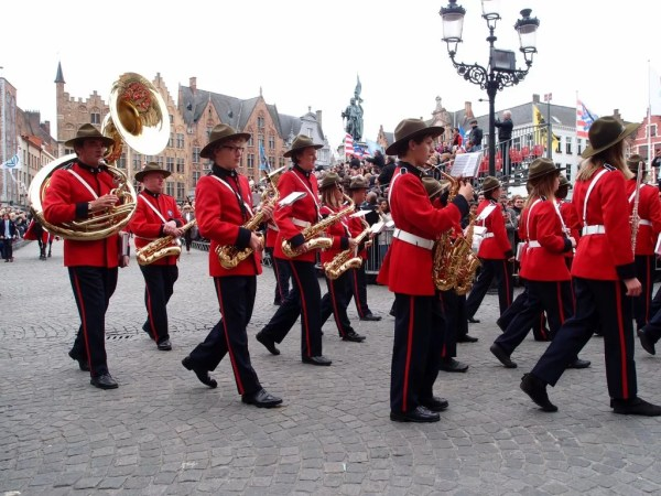 band in the procession of the holy blood, Bruges, Belgium
