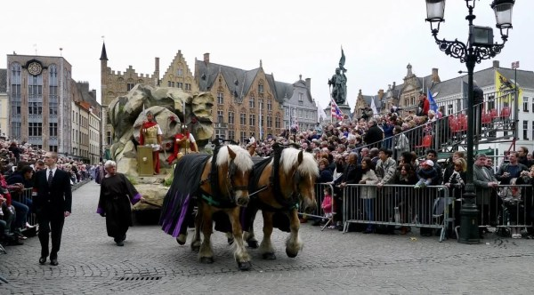 Roman soldiers and tomb of Christ, Bruges, Belgium