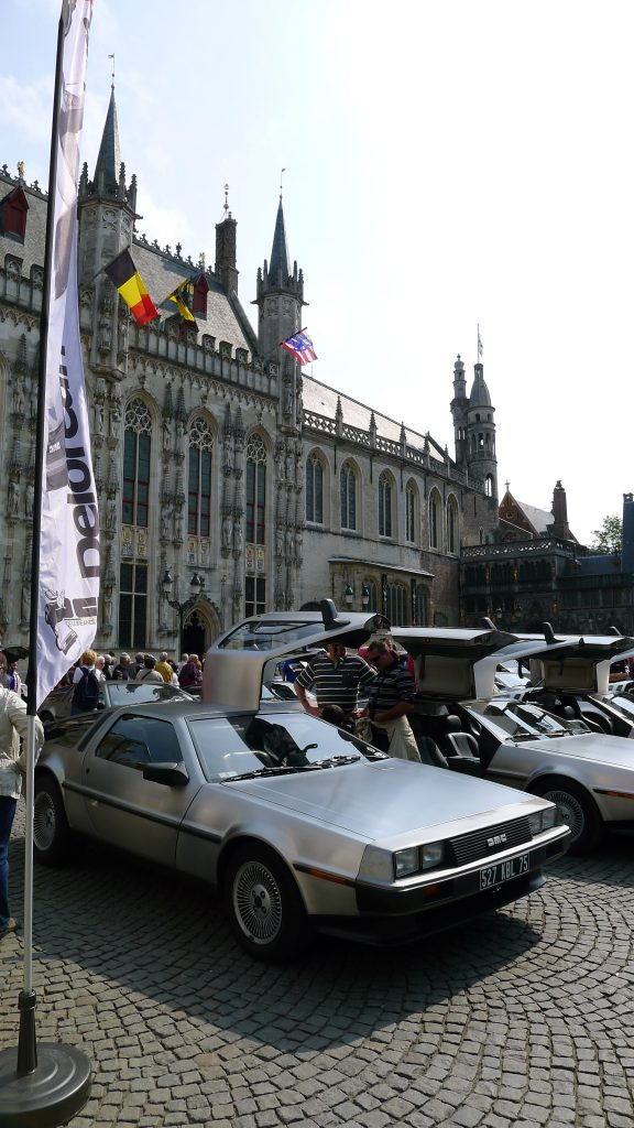 DeLorean club display, Bruges, Belgium