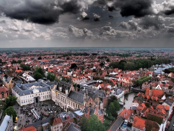 view from Belfry, Bruges, Belgium