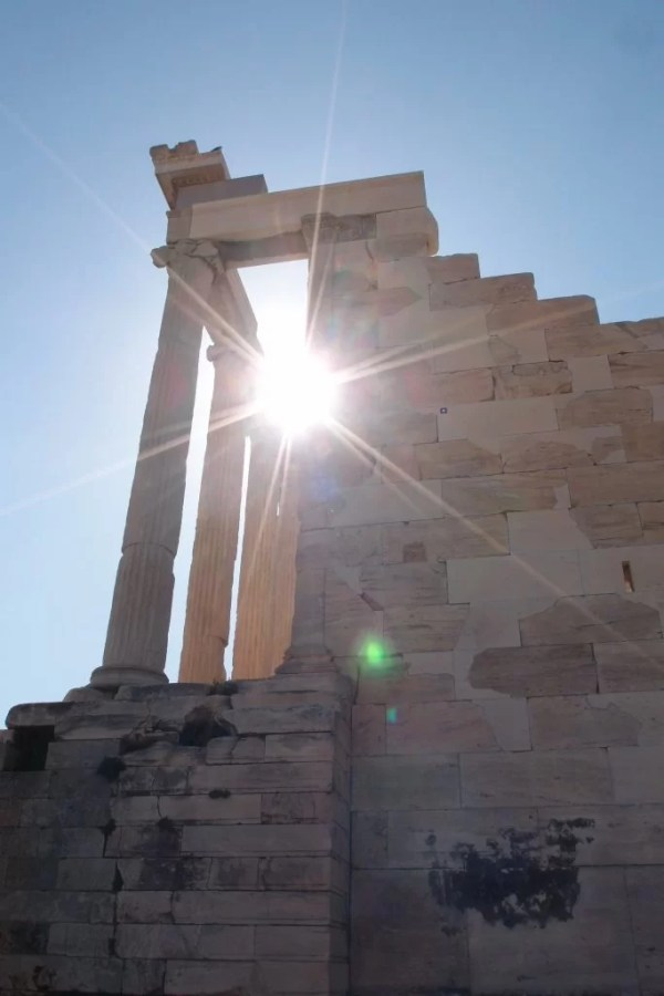 Sunlight on the acropolis, Greece