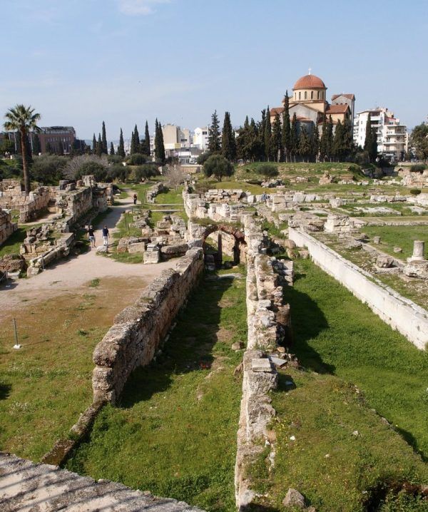 Sacred Way and arched vaulted channel, Athens
