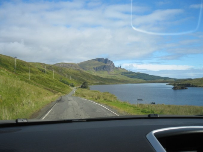 Isle of Skye view from windshield, Scotland