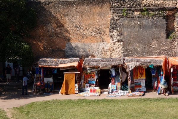 vendors inside the Old Fort