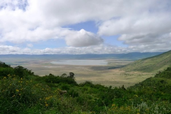 Ngorongoro Crater panoramic view