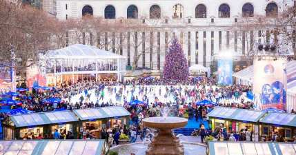 Image result for bryant park winter village
